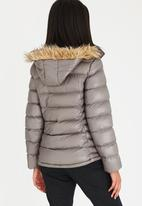 JEEP - Puffer Jacket With Removable Fur Hood Dark Grey