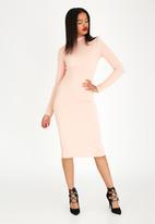 STYLE REPUBLIC - Open Back Detail Dress Pale Pink