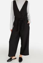 Pieces - Albia Wrap Jumpsuit Black