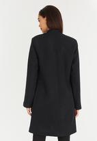 edit - Notch Neck Coat Black