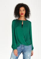 edit - Wrap Over Top Dark Green