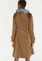 Sober - Hoodini Euro Suedette Coat Camel