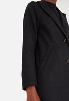 edit - Classic Melton Coat Black