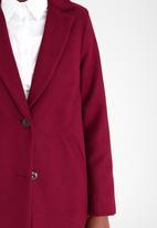 edit - Classic Melton Coat Burgundy