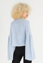 STYLE REPUBLIC - Trumpet Sleeve Jersey Pale Blue