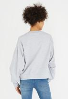 STYLE REPUBLIC - Ruched Sleeve Sweater Grey