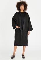 LUMIN - Wool-like Lined Overcoat Black