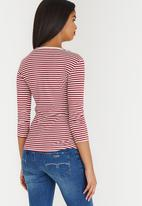 Sissy Boy - Jemima Stripe Logo Tee Red