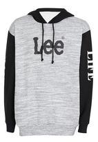Lee  - Live Life Hooded Sweat Grey