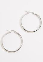 edit - Sterling Silver Plain Hoops Silver