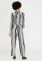 ONLY - Alva Striped Jumpsuit Navy & White
