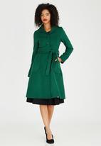 AMANDA LAIRD CHERRY - Catherine Wool-like Coat Green