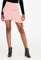 STYLE REPUBLIC - Frill Detail Mini Pale Pink
