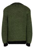 See-Saw - 2 Tone Knit Jumper Khaki Green
