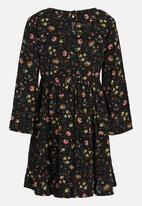 See-Saw - Tiered Boho Dress Multi-colour