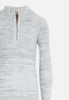 See-Saw - Zip Detail Pullover Grey Melange