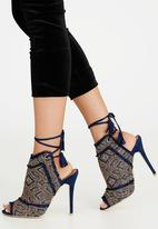 Miss Black - Fiction Heels Blue