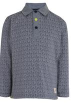 GUESS - L/S Guess Optic Polo Blue