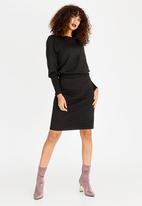 G Couture - Boatneck Dress Black