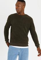Brave Soul - Victor Fleece Sweatshirt Khaki Green