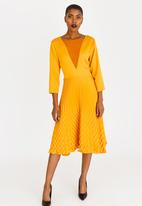 Gert-Johan Coetzee - Royal Pleat Dress Yellow