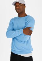 STYLE REPUBLIC - Eben Crew Neck Jersey Blue
