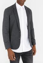 STYLE REPUBLIC - Borris Cotton Blazer Dark Grey