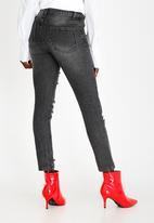 STYLE REPUBLIC - Rip & Repair Straight Leg Jeans Black
