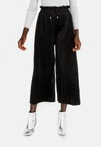 STYLE REPUBLIC - Velour Culottes Black