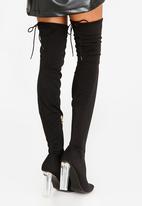Dolce Vita - Sorrento Block Heeled Thigh High Boots Black