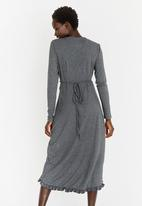 G Couture - Wrap Dress Grey