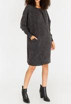 G Couture - Pleat Detail Dress Charcoal