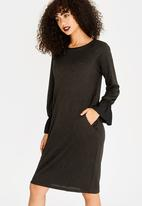 G Couture - Flared Sleeves Dress Black