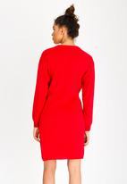 STYLE REPUBLIC - Tie Front Dress Red