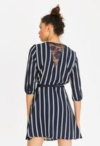 ONLY - Aida Lace Dress Blue