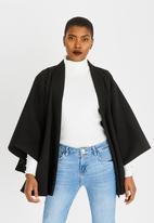 Isabel de Villiers - Wool-like Cape Cover up Black