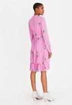 Vero Moda - Elena Long Sleeve Dress Pale Pink