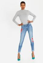 GUESS - Guess Super High Rise Jeans Mid Blue