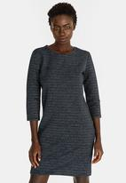 ONLY - Leco 3/4 Sleeve Dress Navy