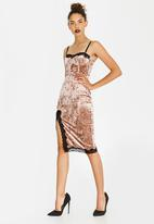 Sissy Boy - Velvet Midi Dress Taupe