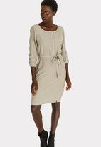 CRAVE - Long Sleeve Dress Khaki Green
