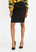 Revenge - Pleat Detail Skirt Black