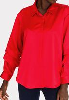 edit - Sleeve Detail Blouse Red