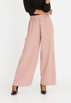 edit - Wide Leg High Waist Pants Rose