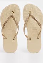 Havaianas - Kids slim - sand grey/light golden