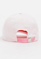 MINOTI - Baseball Embossed Slogan Peak Cap Pale Pink