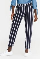 ONLY - Madeline Striped Pants Navy & White