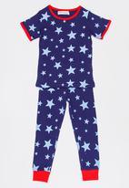 MINOTI - Stars 2 Piece AOP PJ Set - Navy
