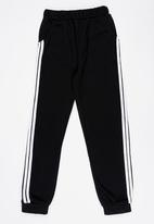POP CANDY - Side Stripe Joggers Black