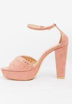 Miss Black - Lana Block Heels Pale Pink